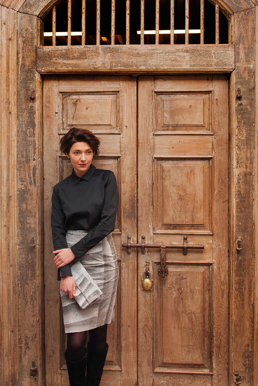 Modeservice zalmleer kleding van Map Renes